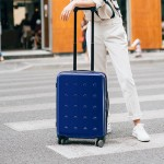 Xiaomi 90 GOFUN Spinner Wheels Travel Suitcase 24` White