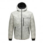 Uleemark Men`s Double-Sided Down Jacket Camouflage White