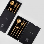 Maison Maxx 4 Piece Stainless Steel Flatware Set Black