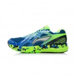 Xiaomi X Li-Ning Liejun Men`s Smart Running Shoes ARHK081-1-10 Size 46 Blue / Fluorescent Green / White