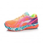 Xiaomi X Li-Ning Liejun Women`s Smart Running Shoes ARHK078-3-7 Size 37.5 Orange / Pink / Purple / Fluorescent Yellow / Blue