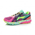 Xiaomi X Li-Ning Liejun Women`s Smart Running Shoes ARHK078-5-7 Size 37.5 Pink / Black / Fluorescent Yellow / Green