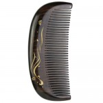 XIN ZHI Ebony Gold Hand-painted Comb Brown