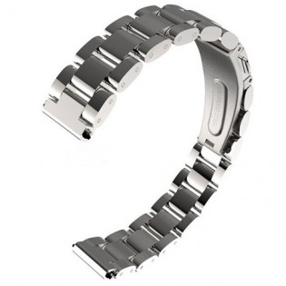 MiJobs 2 Stainless Steel Bracelet for Mi Band 2 Silver