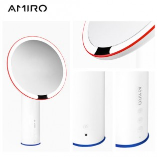 AMIRO LED Lighting Desktop Makeup Mirror O Series White