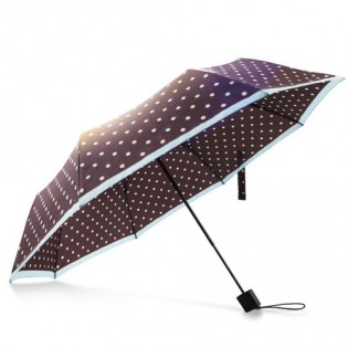 Pinluo Dot Umbrella Brown