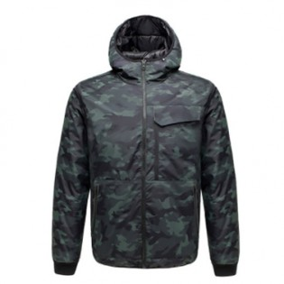 Uleemark Men`s Double-Sided Down Jacket Camouflage Black