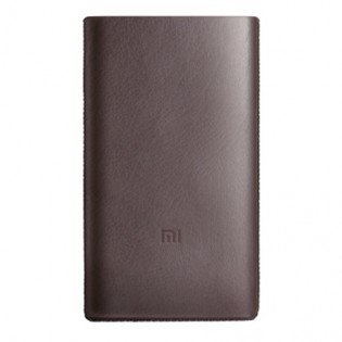 Xiaomi Mi Power Bank Pro 10000mAh Leather Protective Case Brown