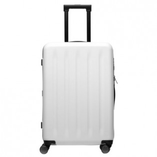 "RunMi Trolley 90 Points Suitcase 24""  White Moon Light"