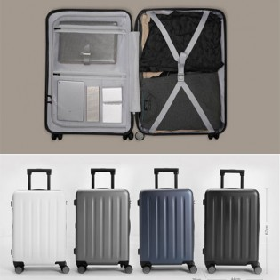 "RunMi Trolley 90 Points Suitcase 24""  Gray Stars"