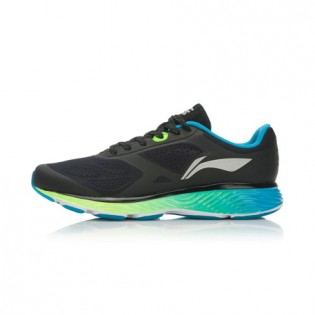 Xiaomi X Li-Ning Cloud III Men`s Smart Cushion Running Shoes ARHL037-4-10 Size 42 Black / Blue / Fluorescent Green