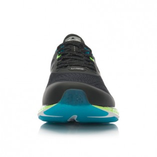 Xiaomi X Li-Ning Cloud III Men`s Smart Cushion Running Shoes ARHL037-4-10 Size 43.5 Black / Blue / Fluorescent Green