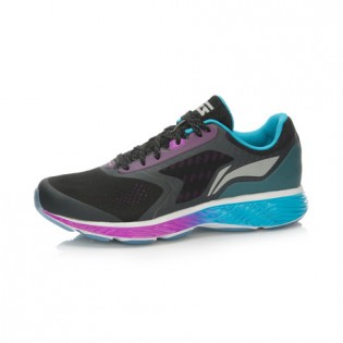 Xiaomi X Li-Ning Cloud III Women`s Cushion Running Shoes ARHL002-5-8 Size 41.5 Black / Blue / Purple
