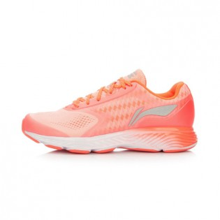 Xiaomi X Li-Ning Cloud III Women`s Smart Cushion Running Shoes ARHL044-4-4.5 Size 34 Peach / Orange / White