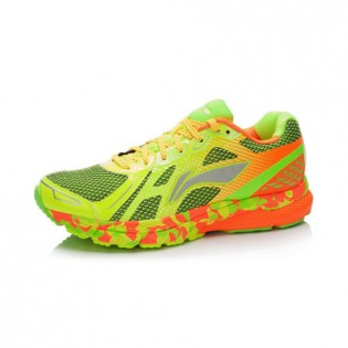Xiaomi X Li-Ning Liejun Men`s Smart Running Shoes ARHK081-3-10 Size 43.5 Fluorescent Yellow / Fluorescent Green / Orange