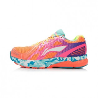 Xiaomi X Li-Ning Liejun Women`s Smart Running Shoes ARHK078-3-7 Size 35.5 Orange / Pink / Purple / Fluorescent Yellow / Blue