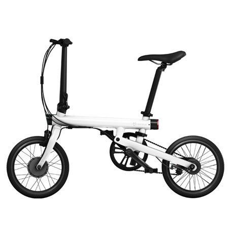 wholesale mijia qicycle folding electric bike white price. Black Bedroom Furniture Sets. Home Design Ideas