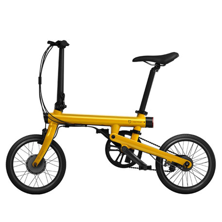 Wholesale Mijia Qicycle Folding Electric Bike Yellow Price