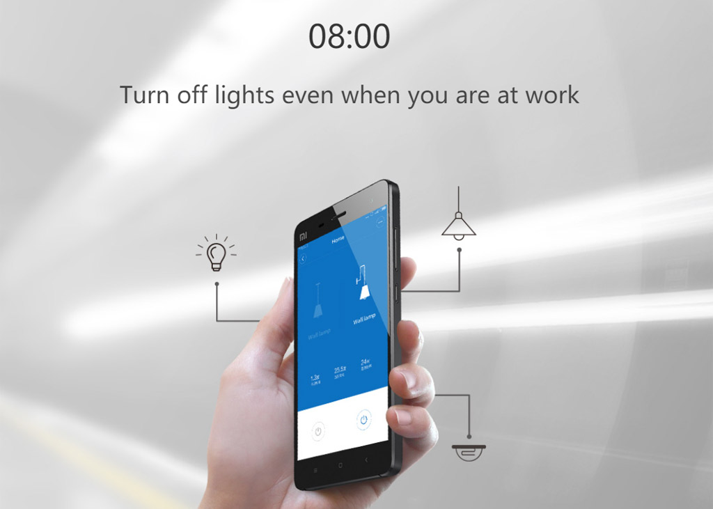 Using The Mi Home Application You Can Turn Off Light Even When Are Far Away From