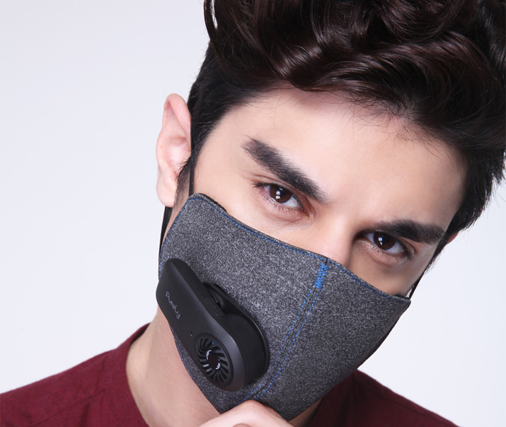 xiaomi is launching anti pollution mask with mounted fan. Black Bedroom Furniture Sets. Home Design Ideas