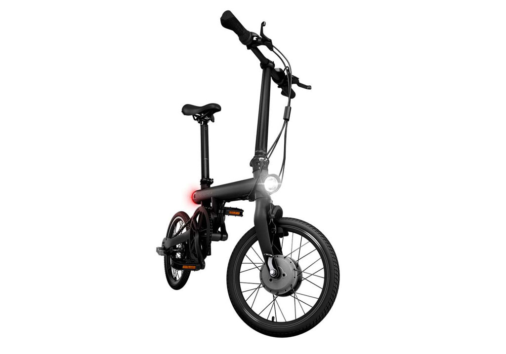 wholesale mijia qicycle folding electric bike black price. Black Bedroom Furniture Sets. Home Design Ideas